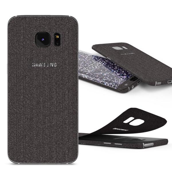 Samsung Galaxy S7 Edge Glitzer Folie Diamond Design Handy Aufkleber Schutz Bling