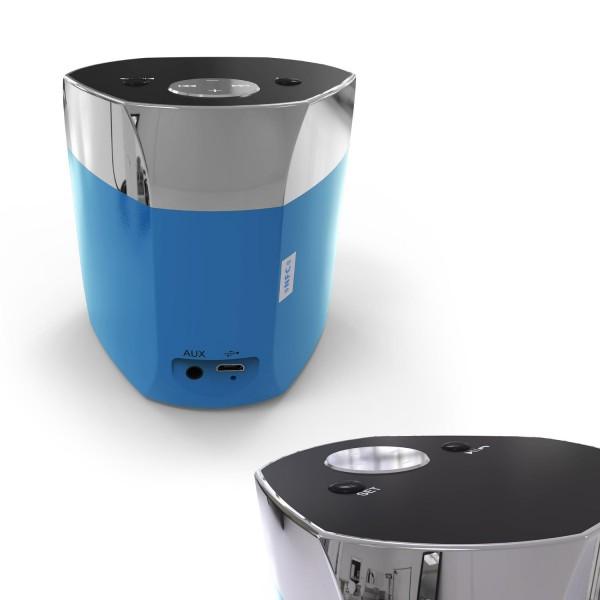 Urcover® Aluminium Bluetooth Lautsprecher Musik Speaker Box Wireless Sound AUX
