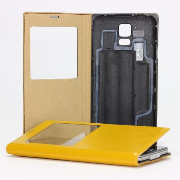 XoomZ Handy Schutz Hülle Samsung Galaxy S5 View Case Cover Akku Deckel Wallet