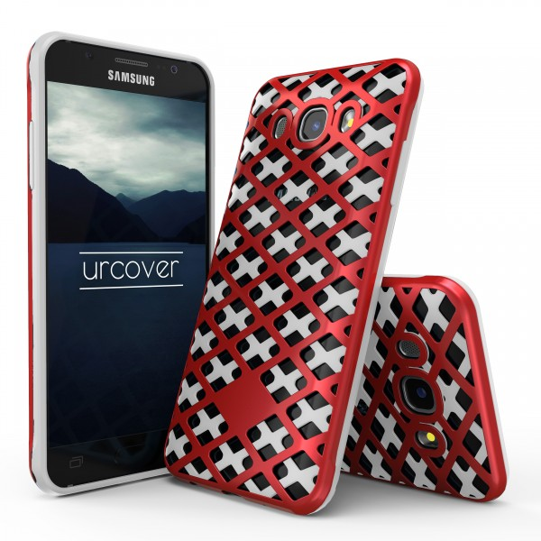 Urcover® Samsung Galaxy J7 (2016) Handy-Hülle 2-teilig [PC/TPU] Dual Layer Cover