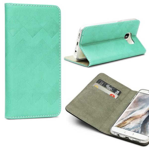 Urcover® Samsung Galaxy S7 Edge Wallet Schutz Hülle Flip Case Cover Etui Schale