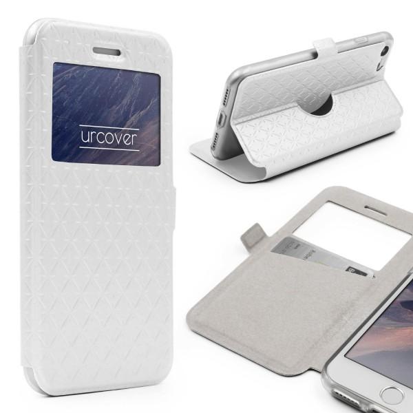 Apple iPhone 7 Sichtfenster Wallet Handy Schutz Hülle View Cover Flip Case Etui
