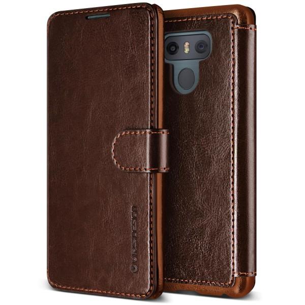 LG G6 Premium Schutzhülle Magnet Verschluss Kartenfach Case Cover Etui Schale