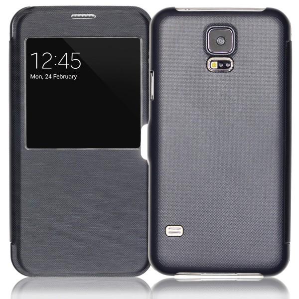 Samsung Galaxy S5 View Case Schutz Hülle Sicht-Fenster Cover