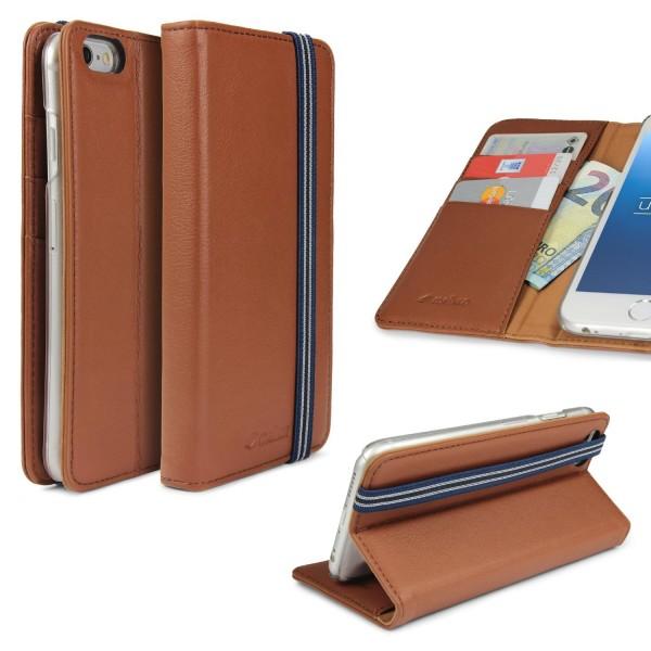 Urcover Apple iPhone 6 Plus / 6s Plus Wallet Standfunktion Kartenfach Klapphülle Cover