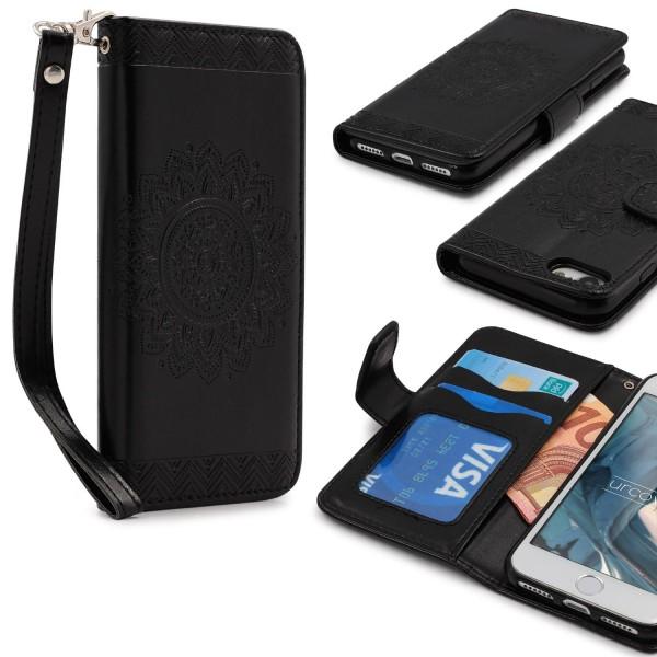 Apple iPhone 7 Wallet Klapp Schutz Hülle Stand Flip Case Cover Etui Schale