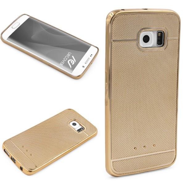 Urcover® Samsung Galaxy S6 Edge Plus Schutz Hülle Metall Optik Silikon Soft Case