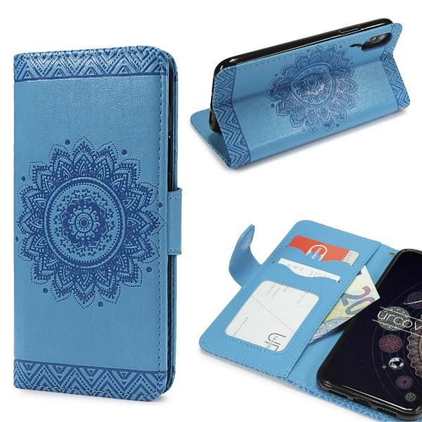 Urcover® Apple iPhone X Schutz Hülle Wallet Klapp Schale Lotus Pattern Case Cover