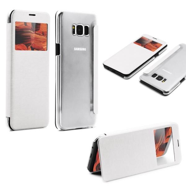 Samsung Galaxy S8 View Case klar Schutz Hülle Cover Case Etui Handytasche Schale