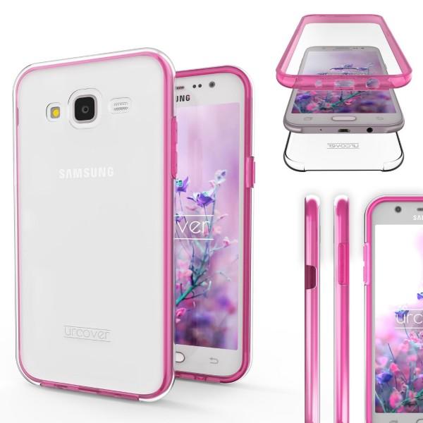 Urcover Samsung Galaxy J7 (2015) Touch Case 2.0 Hard Edition berühmt durch Galileo Rundum 360° Crystal Clear Schutzhülle