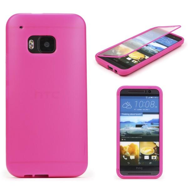 HTC One M9 TOUCH CASE Display Schutzhülle Schale Rundum Cover Tasche Etui Schale