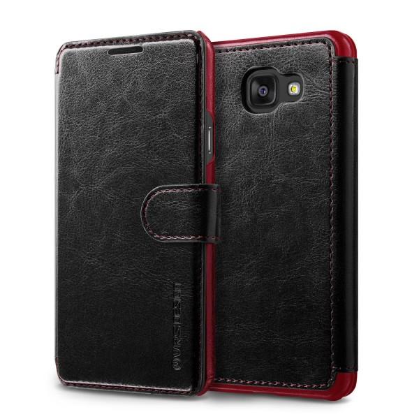 Samsung Galaxy A9 (2016) Premium Schutzhülle Magnet Verschluss Kartenfach Cover