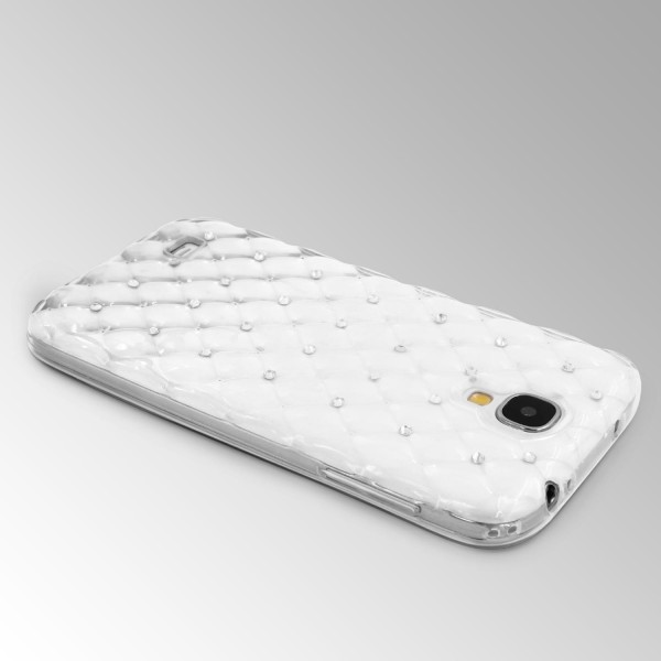 Samsung Galaxy S4 Luxus TPU Handy Hülle Schutz Cover Glitzer Diamant Schale Case