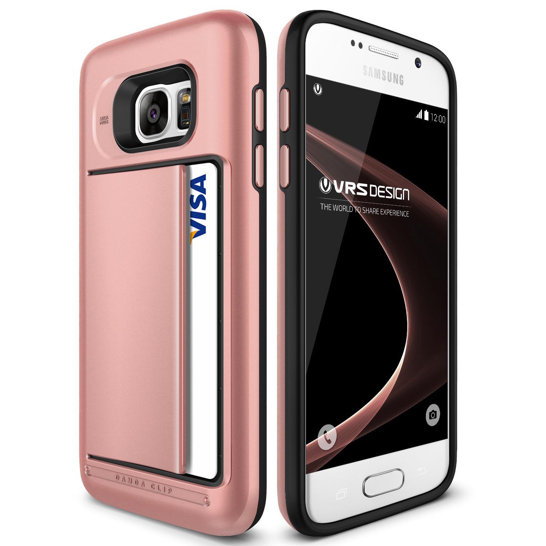 Samsung Galaxy S7 VRS Design Kartenfach Handy Schutz Hülle Back Case Schale Backcase Galaxy S7 Smartphone Samsung