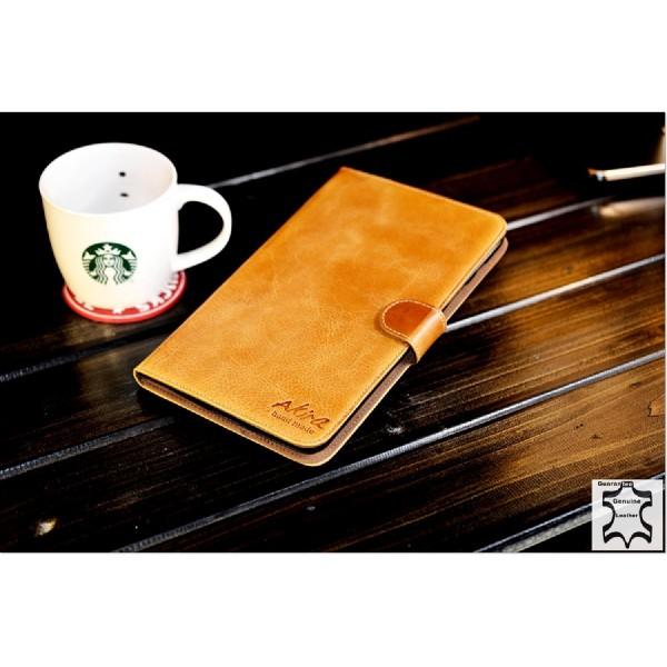Akira LG Gpad Handgemachte Echtleder Schutzhülle Flip Ledertasche Wallet Cover