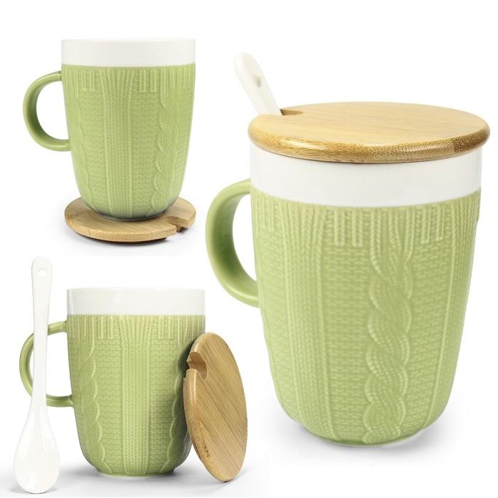 Tasse im Strickmuster Design