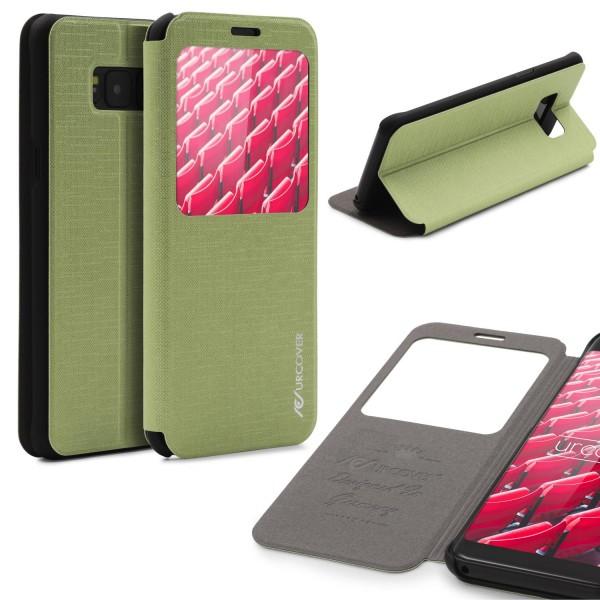 Samsung Galaxy S8 Plus View Case Schutz Hülle Wallet Cover Etui Tasche Struktur