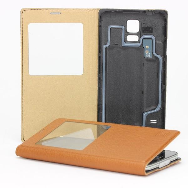XoomZ Handy Schutz Hülle für Samsung Galaxy S5 View Case Cover Wallet Tasche
