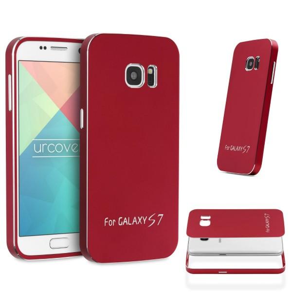 Urcover® Samsung Galaxy S7 Aluminium Schutz Hülle Back Case Cover Tasche Etui