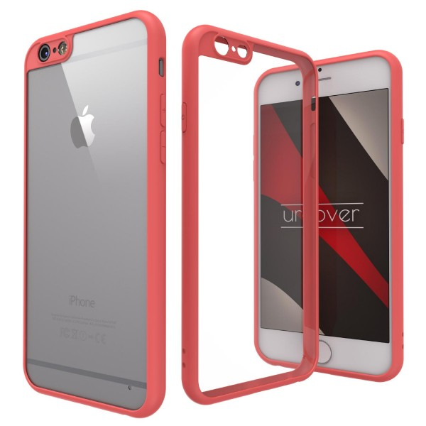 Urcover® Apple iPhone 6 / 6s Simply Back Cover Schale farbiger Rand Handyhülle