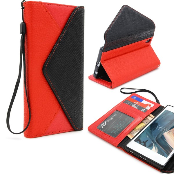 Urcover® Sony Xperia Z5 Plus Schutz Hülle Karten & Geld Fach Case Cover Etui