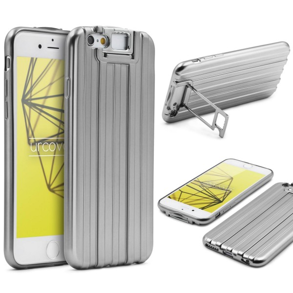 Urcover® Apple iPhone 6 / 6s TPU Backcase Schutzhülle Metall Optik Case Cover