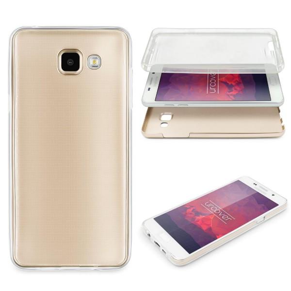 Samsung Galaxy A5 (2016) 360 GRAD RUNDUM SCHUTZ Metalloptik TPU Hülle Cover Case