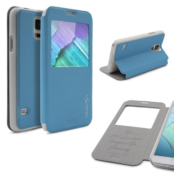 Urcover® Samsung Galaxy S5 Kunststoff Schutz Hülle Case Cover Wallet View Tasche