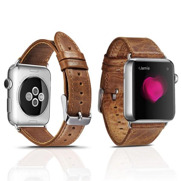 Urcover® Uhrenband Apple Watch 42mm Uhrenarmband Vintage Retro