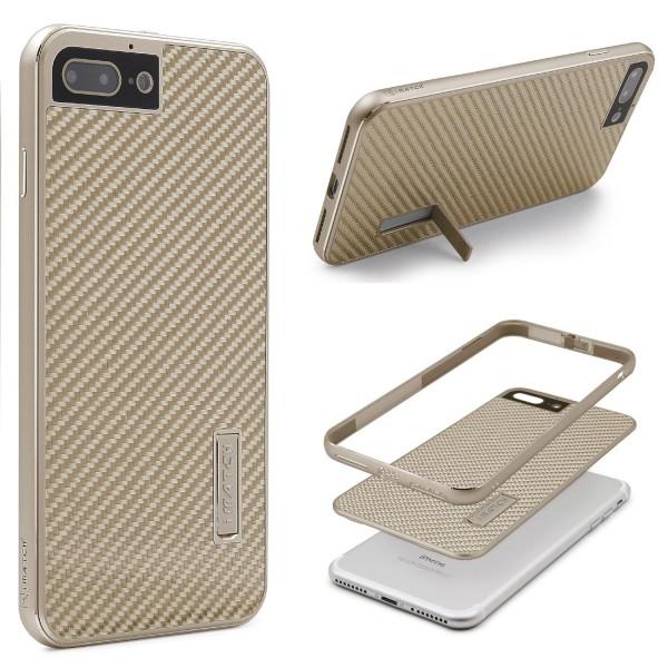 Apple iPhone 7 Plus Echt Carbon Back Case Handy Schutz Hülle Bumper Alu Karbon