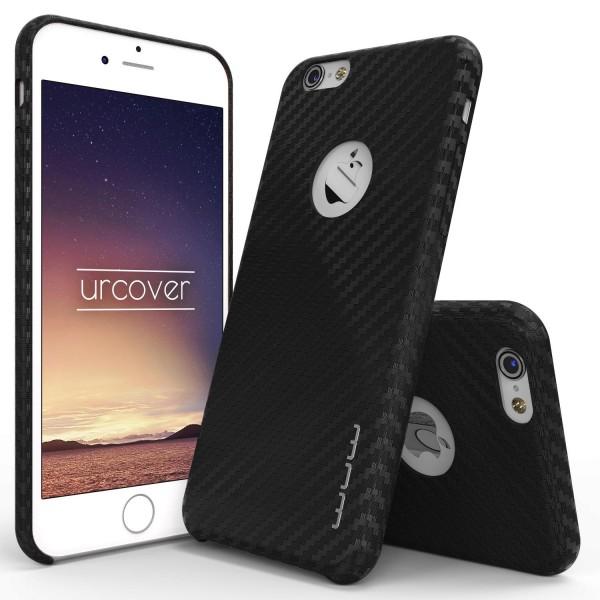 Urcover® Apple iPhone 6 Plus / 6s Plus Schutz Hülle in Carbon Optik Case Cover