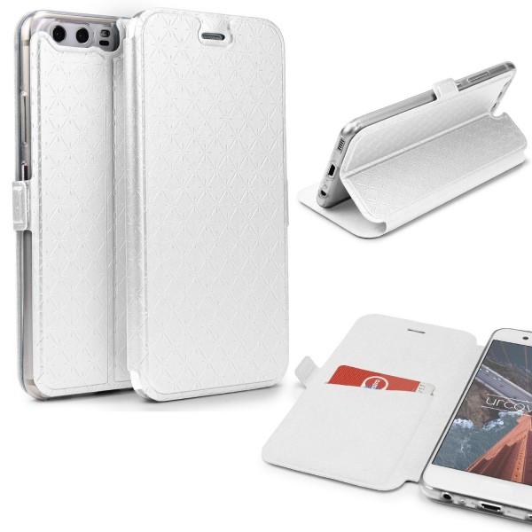 Huawei P10 Klapp Handy Schutz Hülle Sichtfenster Kartenfach Standfunktion Case