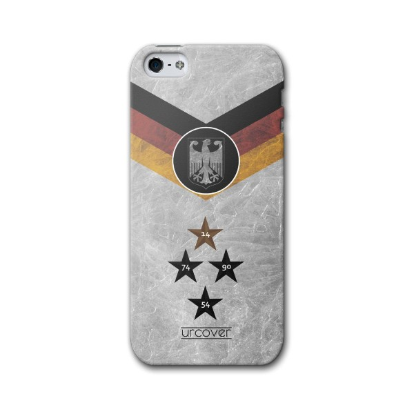 Urcover® Apple iPhone 5 / 5s / SE Fanartikel Schutz Hülle Fußball Case Land Etui