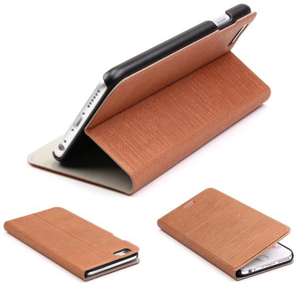 Apple iPhone 6 / 6s View Case Schutz Hülle Wallet Cover Etui Tasche Struktur