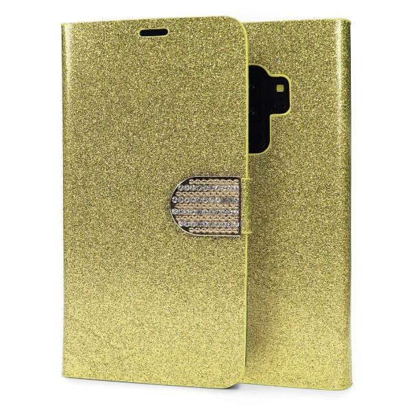 HANDY HÜLLE für Samsung Galaxy S9 Plus Glitzer Cover Schutz Hülle TPU Clear Etui