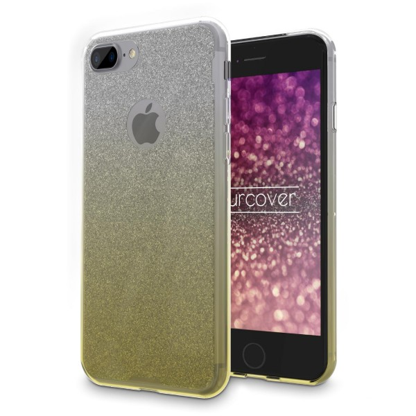 Urcover® Apple iPhone 7 Plus Schutz Hülle Glitzer Soft Case Cover Tasche Etui
