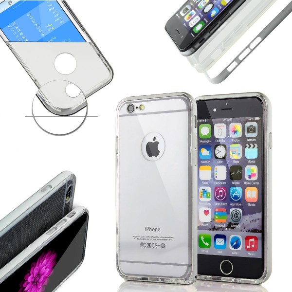 Urcover® Apple iPhone 6 Plus / 6s Plus Schutzhülle Alu Ecken Bumper Case Cover