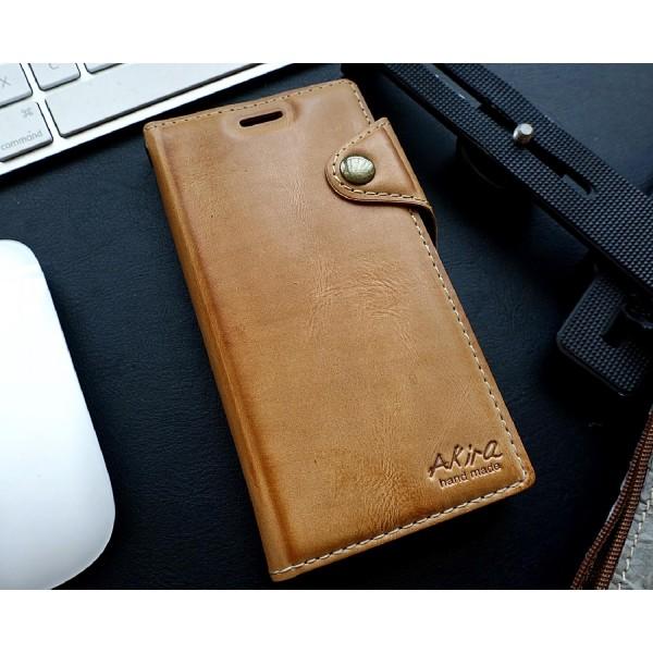 Akira Hand Made Echt Leder Handy Schutz Hülle Sony Xperia XZ