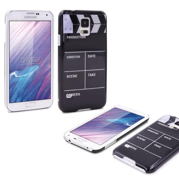 Urcover® Samsung Galaxy S5 Schutz Hülle Back Case Cover Schale Regieklappe Motiv Hard Handy Tasche