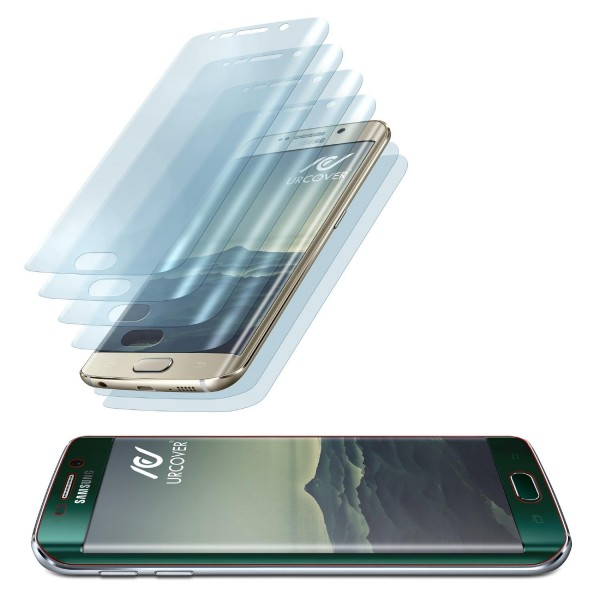 Urcover® Samsung Galaxy S6 Edge Plus gerundete TPU Schutz-Folie komplett Display Edge to Edge