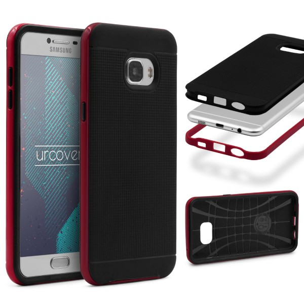 Samsung Galaxy C7 Schutz Hülle Carbon Style Karbon Optik TPU Case Cover Etui