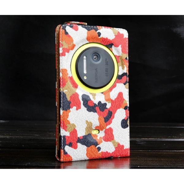 Urcover® Nokia Lumia 1020 Kunststoff Flip Schutzhülle Tarn Optik Case Cover