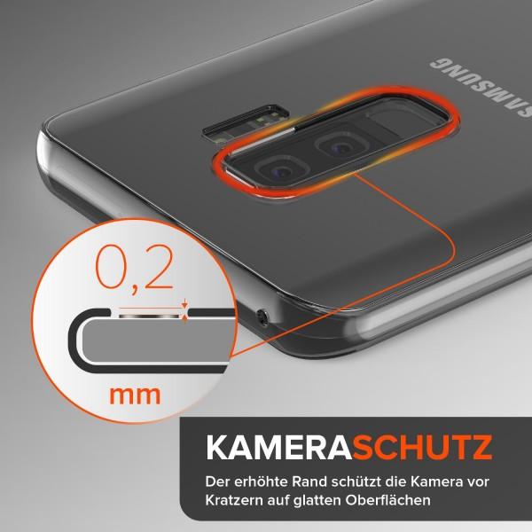 Urcover Samsung Galaxy S9 Plus Touch Case 3.0 Soft Edition berühmt durch Galileo Rundum 360° Crystal Clear Schutzhülle ohne Punktmatrix