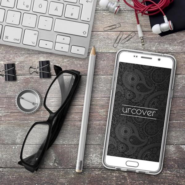 Samsung Galaxy A7 (2016) TPU 360° Grad Rundum Schutz Hülle Mandala Case Cover