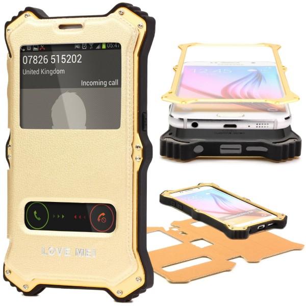 Urcover® Samsung Galaxy S6 Outdoor Case Schutz Hülle Flip Tasche Wallet