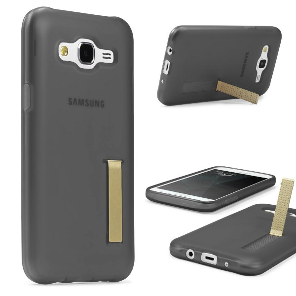 Urcover® Samsung Galaxy J7 (2015) Schutz Hülle mit Standfunktion Soft Case Cover