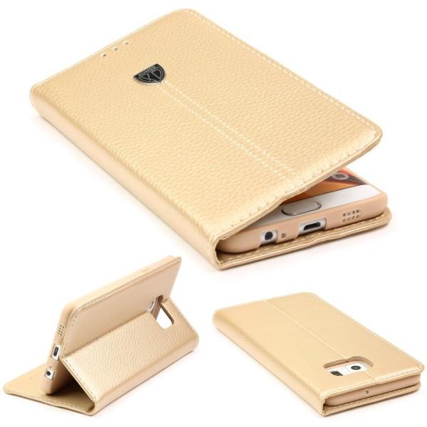Samsung Galaxy S6 Edge Schutzhülle Wallet Case Flip Cover Kartenfach Schale Etui