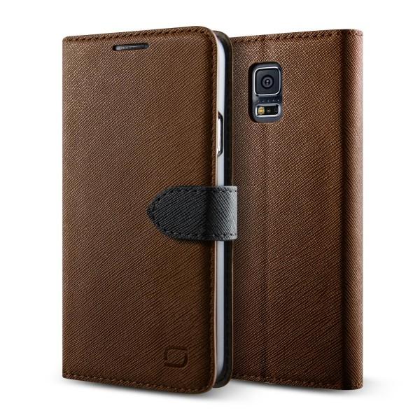 Urcover® Samsung Galaxy S5 Klapp Schutz Hülle Flip Wallet Stand Case Kartenfach