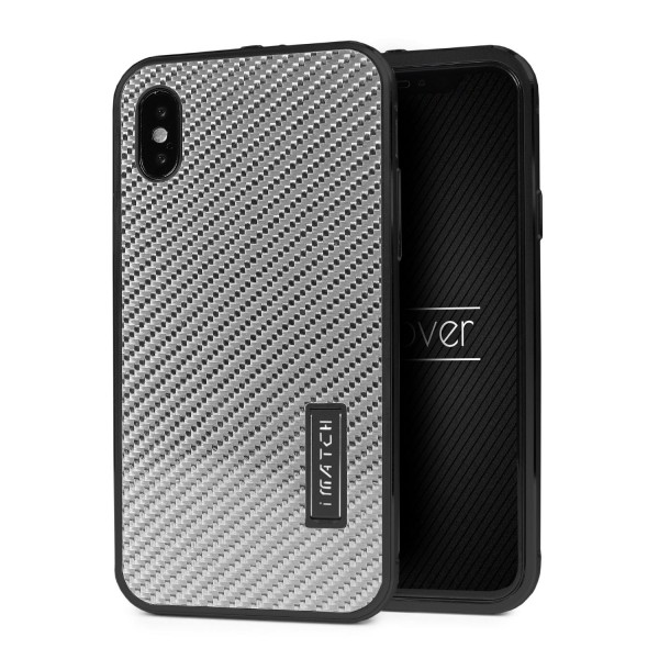Apple iPhone X Echt Carbon Back Case Handy Schutz Hülle Bumper Aluminium Karbon
