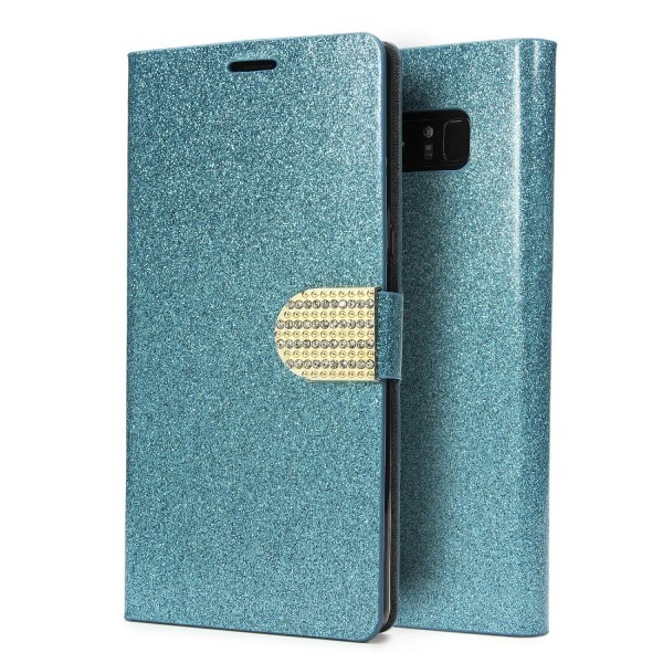 Urcover® Samsung Galaxy Note 8 Strass Bling Diamant Handy Flip Hülle Glitzer Wallet Case Cover Etui